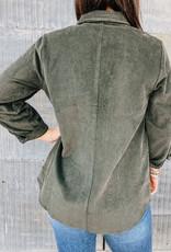 509 Broadway Long Sleeve Woven Corduroy Button Down