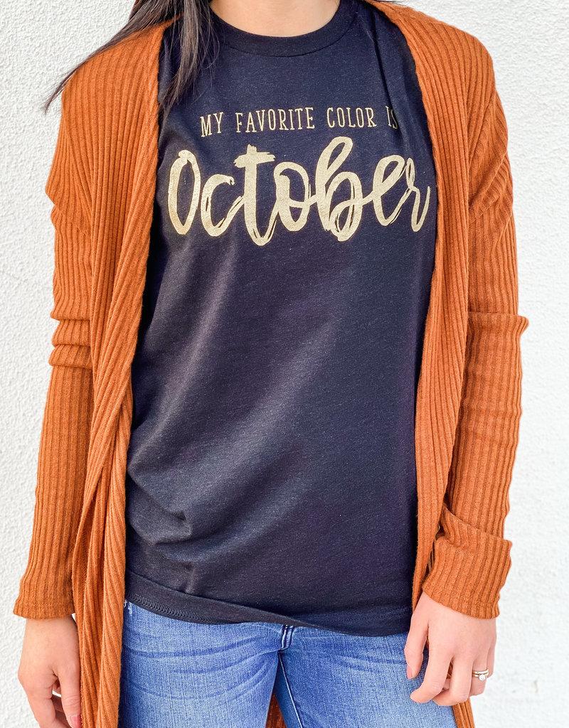 509 Broadway Favorite Color Is October Tee