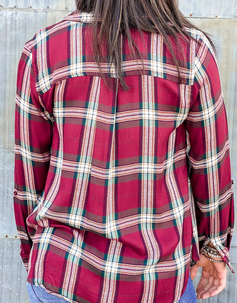 509 Broadway Pocket Flannel Top
