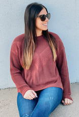 509 Broadway Multi Textured Chevron Sweater
