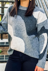 509 Broadway Camo pattern Pullover Sweater