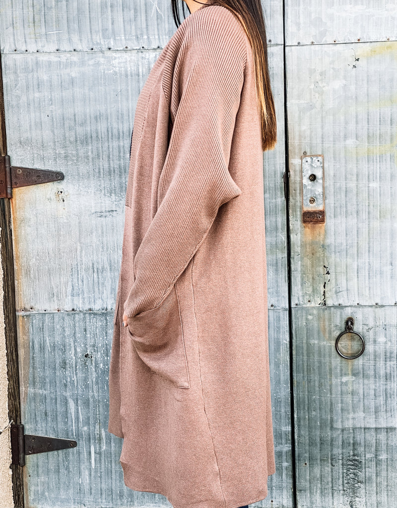 509 Broadway Dolman Long Sleeve Long Cardigan