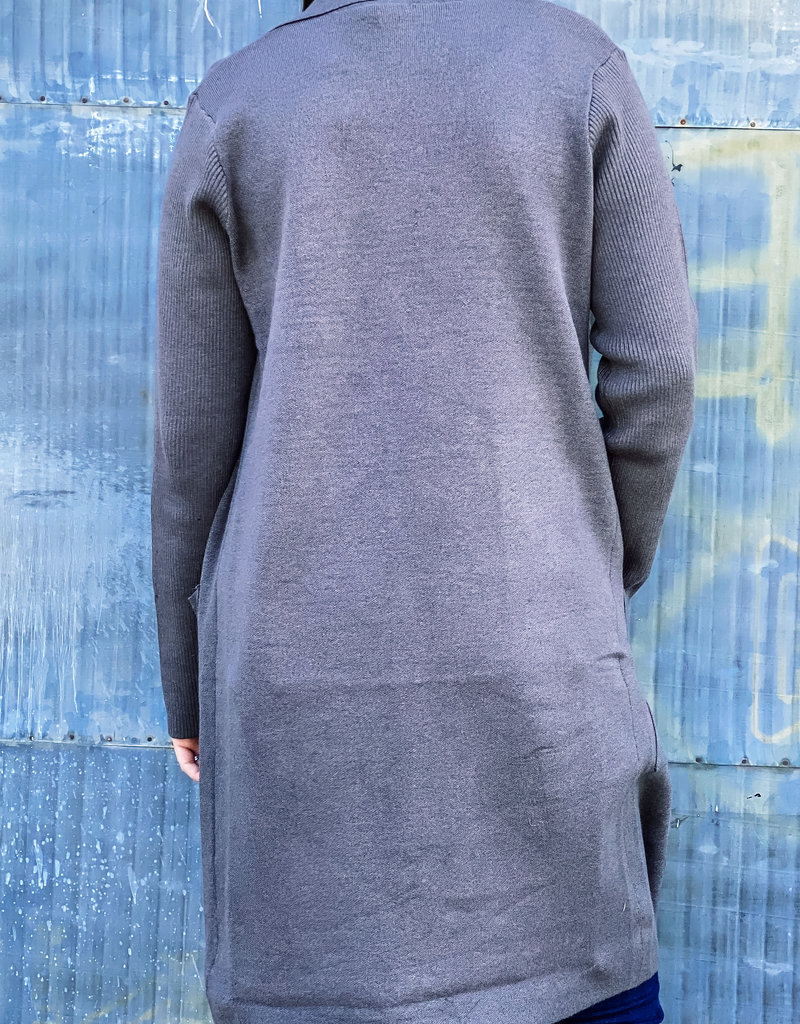 509 Broadway Long Open Cardigan With Pockets