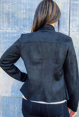 509 Broadway Carina Faux Suede Drape Jacket