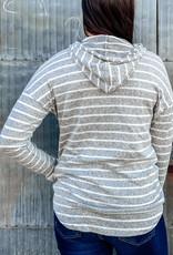 509 Broadway Stripe Hoodie With Pocket