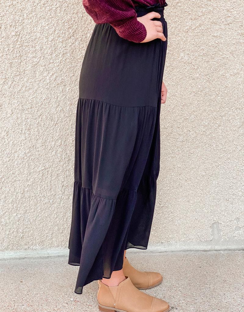 509 Broadway Tiered Maxi Skirt