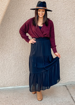 509 Broadway Tiered Maxi Skirt