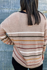 509 Broadway Stripe Pullover Sweater