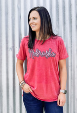 "509 Broadway Nebraska ""Go Girl"" Vintage Boyfriend Tee"