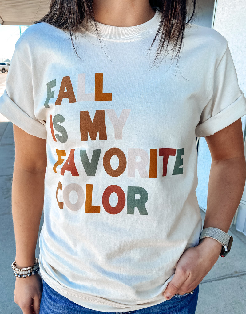 509 Broadway Fall Is My Favorite Color Tee