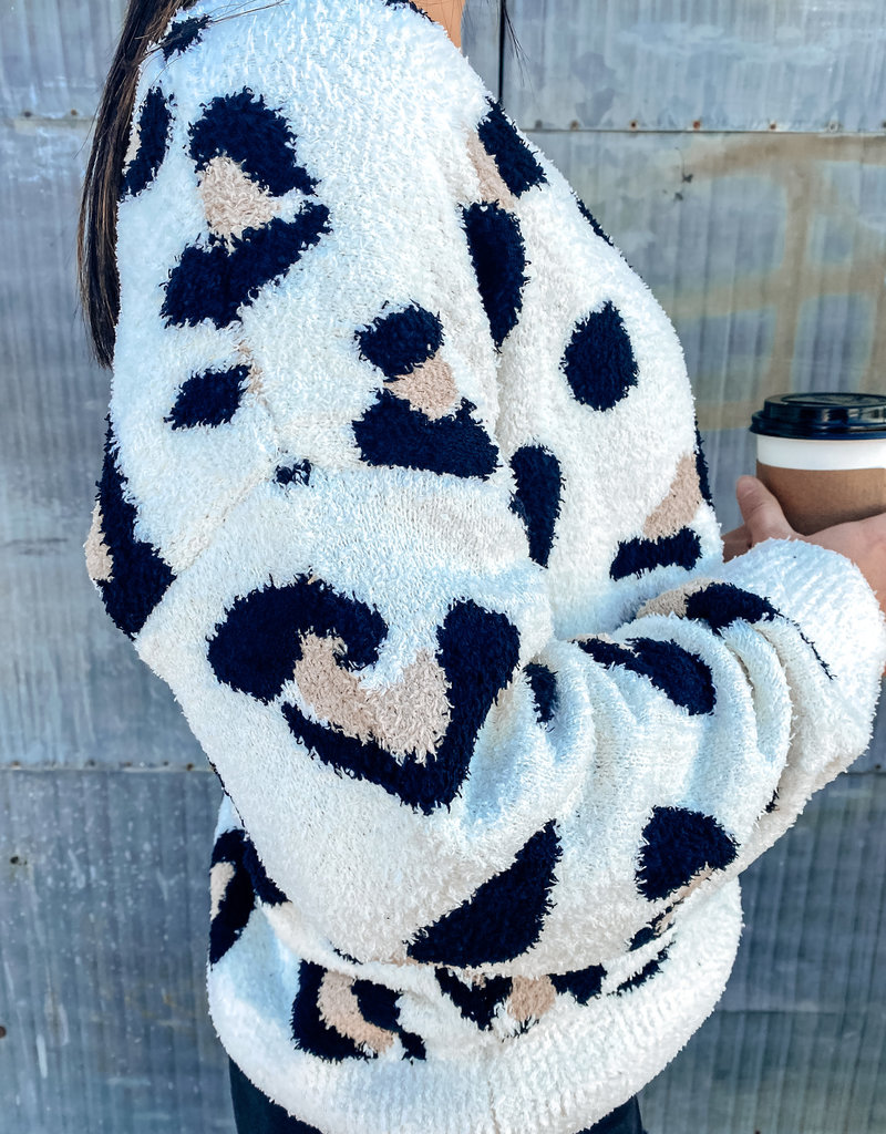 509 Broadway Super Soft Leopard Sweater