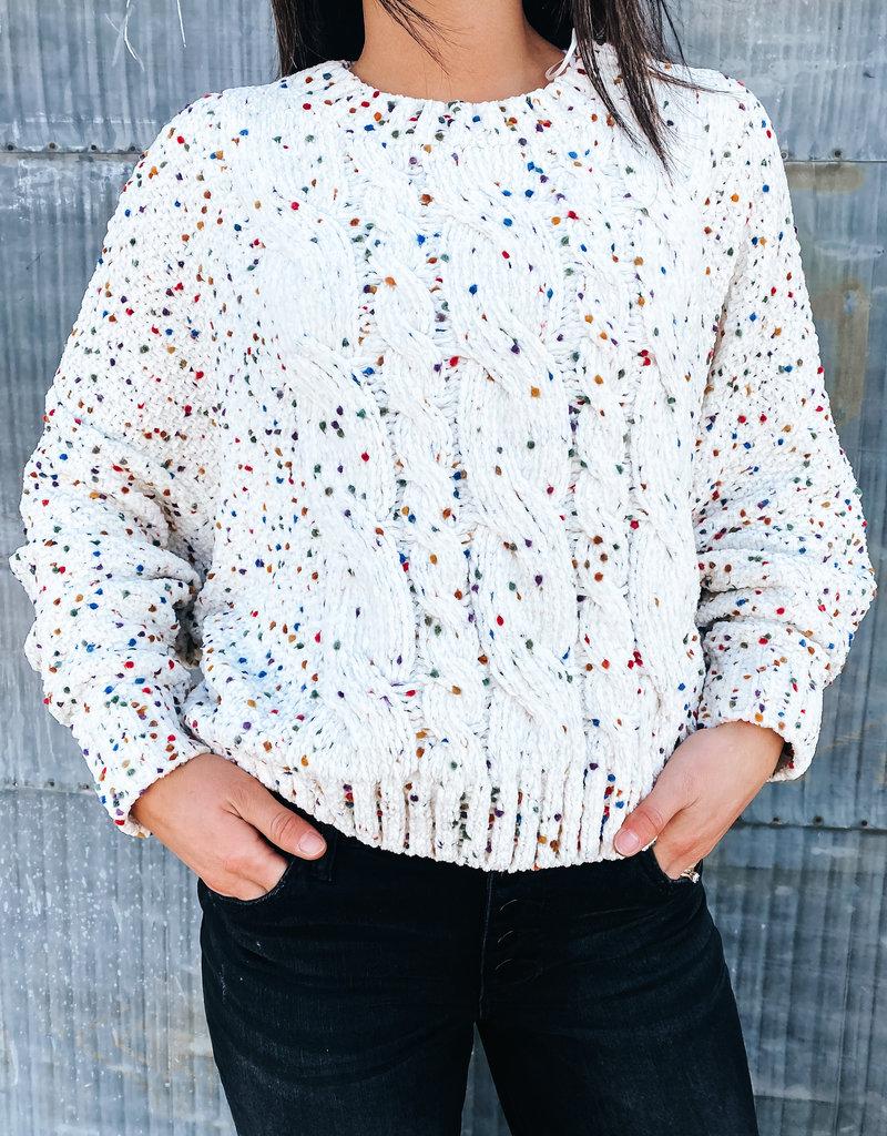 509 Broadway Colorful Polka Dot Sweater