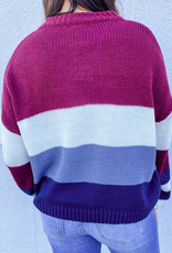 509 Broadway Pullover Color Block Sweater