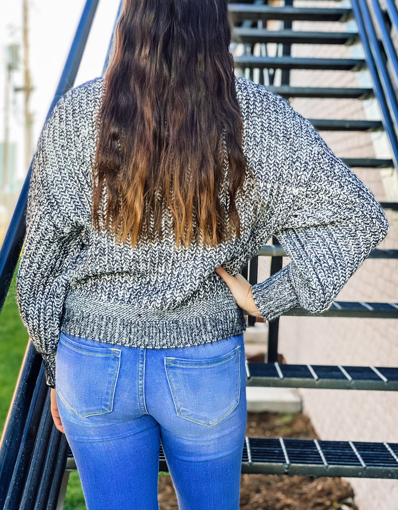 509 Broadway Cropped Turtle Neck Sweater