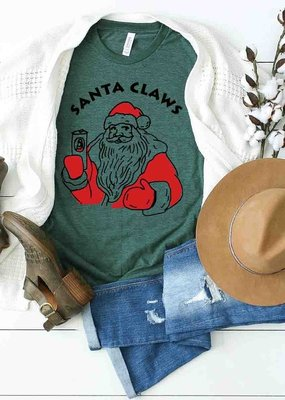 509 Broadway Santa Claws Drink In Hand Tee