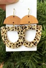 509 Broadway Acrylic & Wood Deco Drop Earrings
