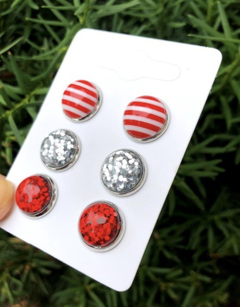 509 Broadway Christmas Stud Earrings