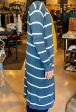 Long Sleeve Ribbed Open Cardigan