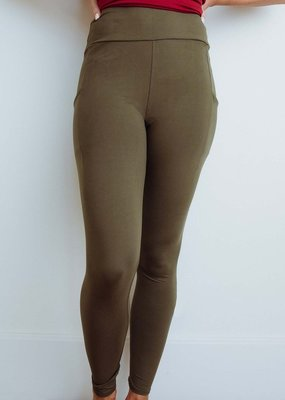 509 Broadway Solid Pocket Leggings