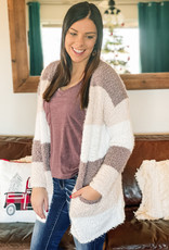 509 Broadway Soft Color Block Sweater Cardi