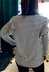 509 Broadway Flatter Sleeve Stripe Top