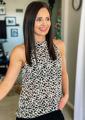 509 Broadway Animal Print Top