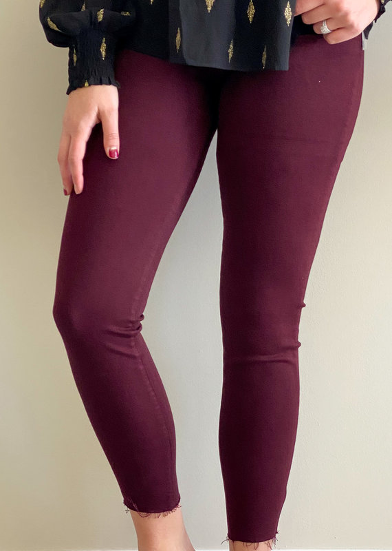 KUT From The Kloth Donna High Rise Ankle Skinny | Raw Hem|