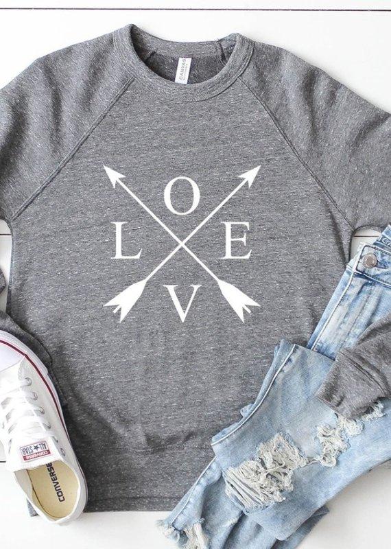 509 Broadway Love Arrows Graphic Sweatshirt