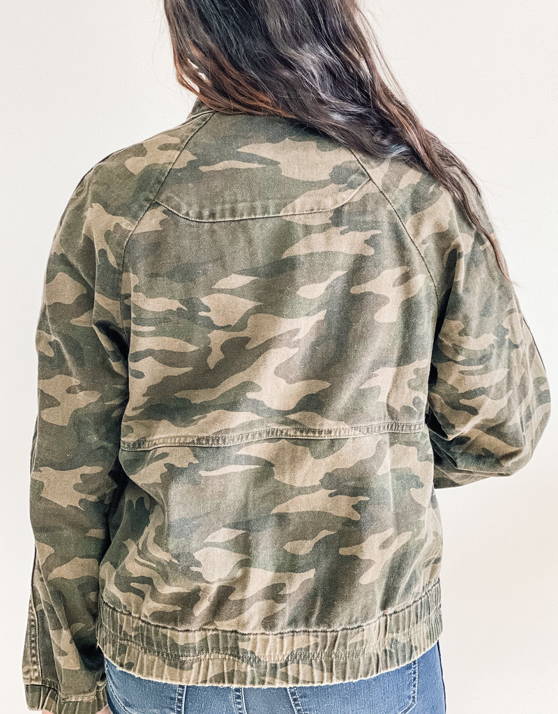 KUT From The Kloth Cruz Bomber Camo Jacket