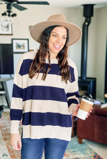 509 Broadway Rugby Stripe Sweater Top
