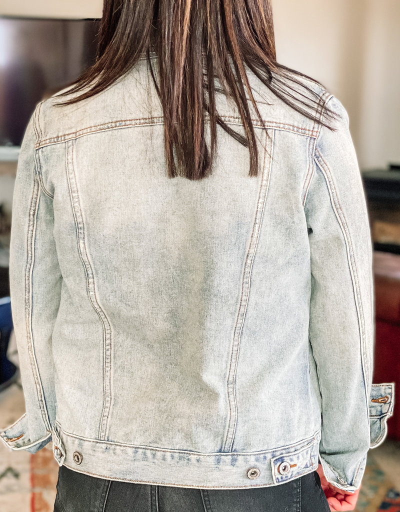 509 Broadway Classic Washed Denim Jacket