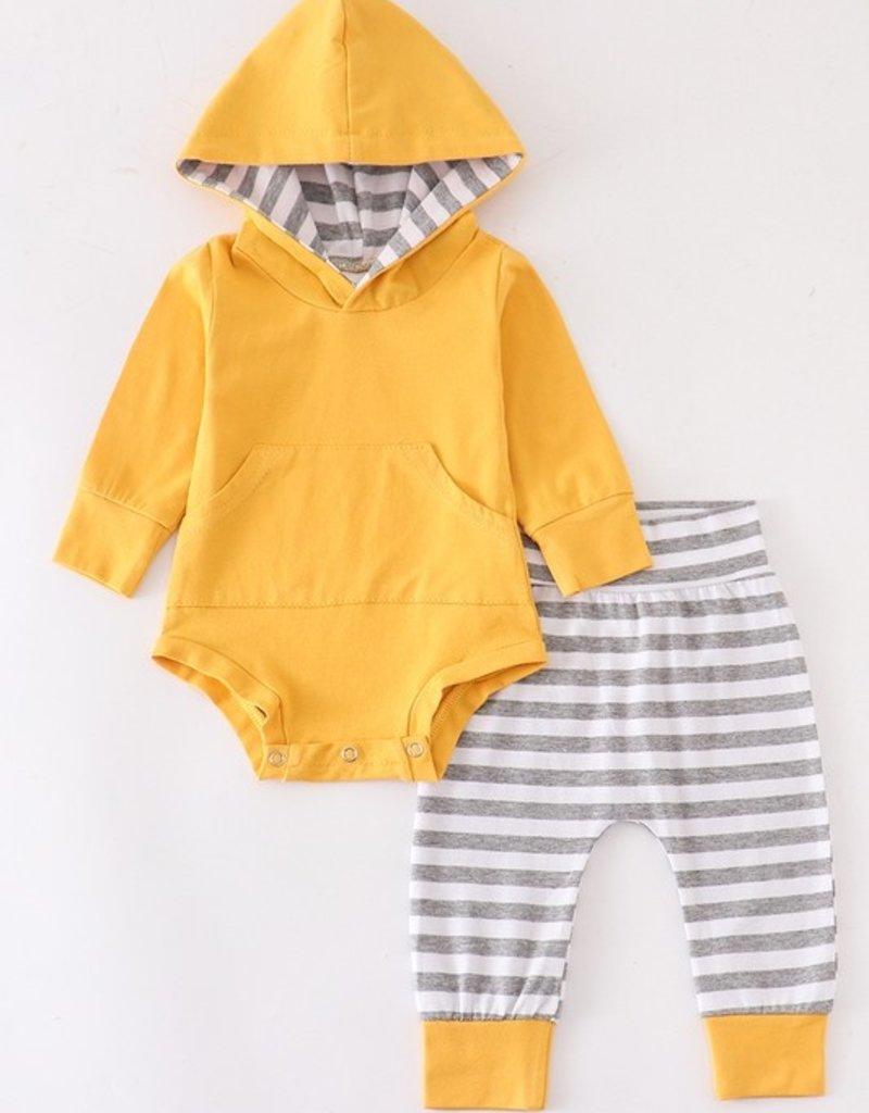 509 Broadway Baby Stripe Hoodie Set