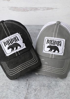 509 Broadway Distressed Mama Bear Hat