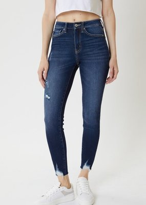 509 Broadway |Katie| High Rise Hem Detail Ankle Skinny