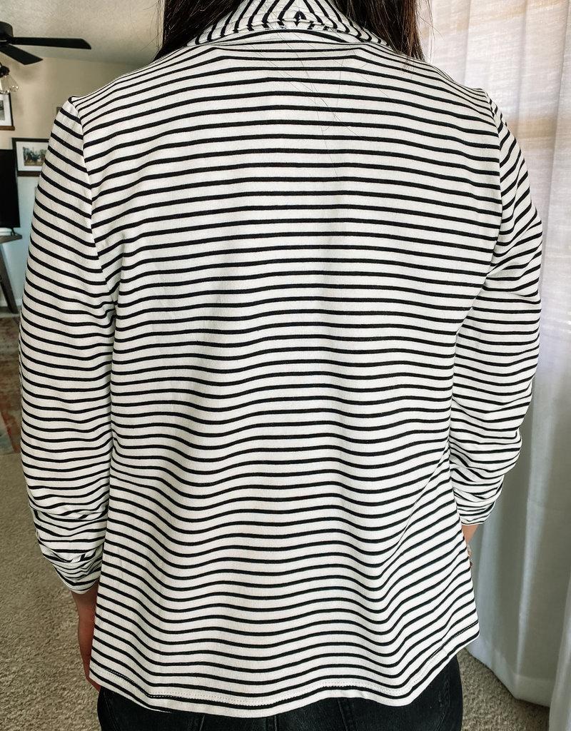 509 Broadway Stripe Open Blazer