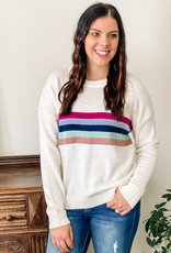 509 Broadway Rainbow Stripe Sweater
