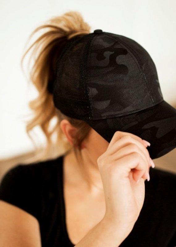509 Broadway Messy Bun Ponytail Hat