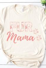 509 Broadway Floral Fur Mama Tee