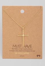 509 Broadway Metallic Cross Necklace