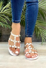509 Broadway Strap Jeweled Sandal