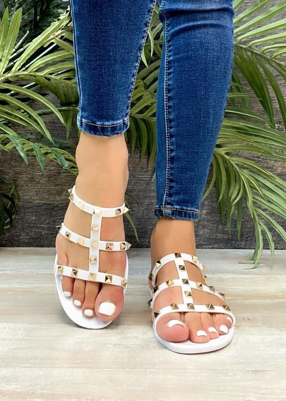 509 Broadway Strap Jeweled Sandal