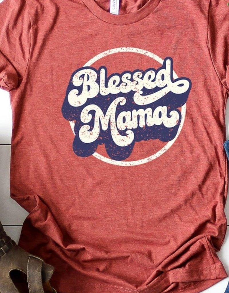 509 Broadway Retro Blessed Mama Graphic Tee