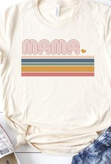 509 Broadway Mama Retro Stripe Graphic Tee