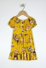 509 Broadway Girls Peasant Neck Puff Sleeve Dress