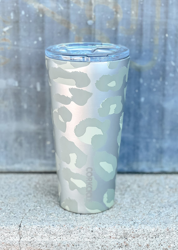 Corkcicle 16oz Snow Leopard Tumbler