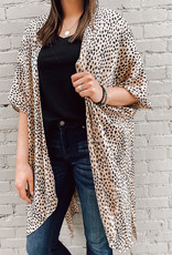 509 Broadway Animal Print Woven Cover Up