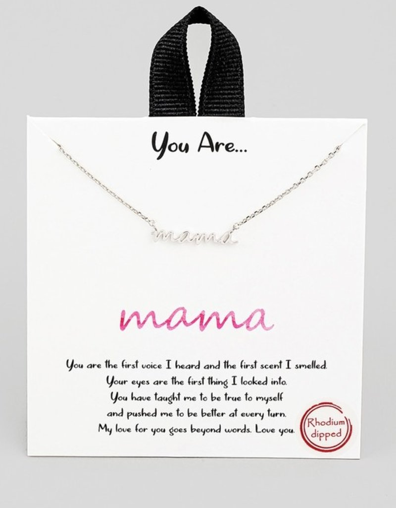 509 Broadway Dipped Mama Pendant  Necklace