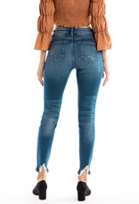 509 Broadway  Willow  High Rise Hem Detail Ankle  Skinny