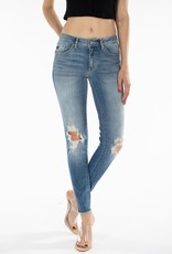 509 Broadway  Jacey  Mid Rise Distressed Ankle Skinny
