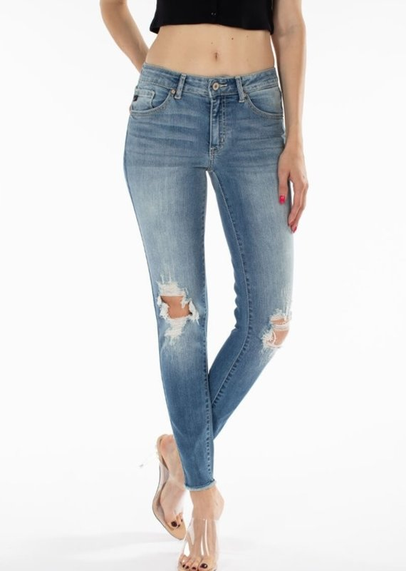 509 Broadway |Jacey| Mid Rise Distressed Ankle Skinny